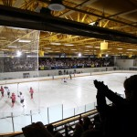 The Gustavus men's hockey team will test the new glass and boards of Don Roberts Ice Rink this weekend when it opens it's home schedule.  Photo courtesy of Sport PiX.