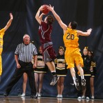 Ben Biewen led the Gusties with 19 points, seven rebounds, three assists, and a block (shown above) - Photo courtesy of Sport Pix