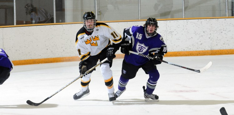 Gustavus' Joey Olson and St. Thomas' Spencer Brendel will face off this weekend in a critical conference series.  Photo courtesy of Sport PiX.