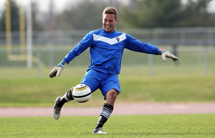 Goalkeeper Brett Ylonen named MIAC Men's Soccer Athlete of the Week.  Photo courtesy of A.J. Dahm - Sport PiX.