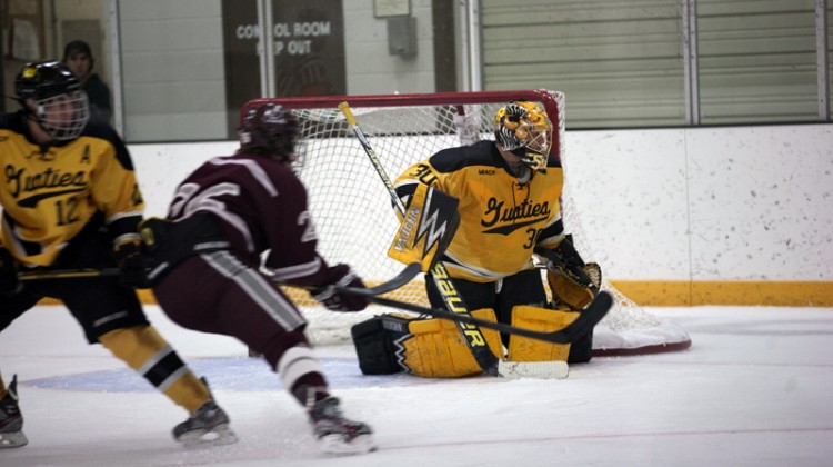 Patrick Sullivan picked up his third win of the season after stopping 37 of Augsburg's 39 shots on Saturday.