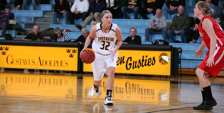 Mia Sandstrom scored a career-best 11 points after going 4-for-5 from the field last Saturday against Hamline.