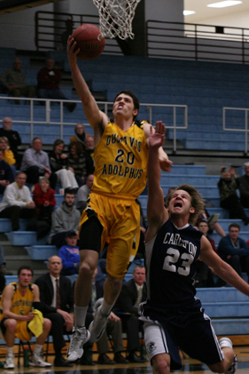 Ben Biewen goes up for a layup.