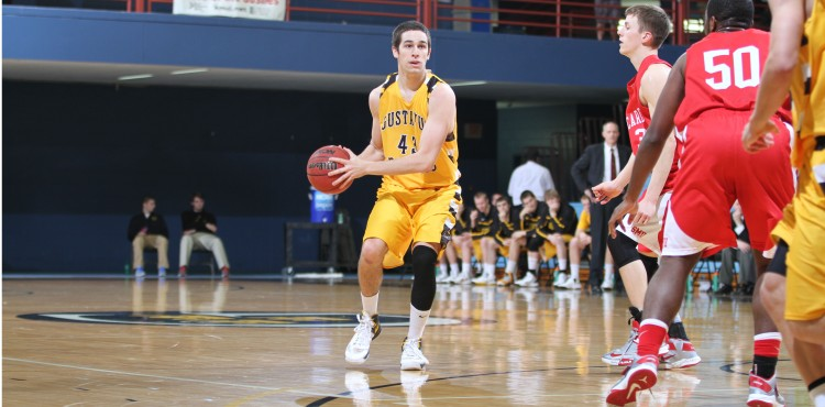 Senior Blake Shay finished with a career-high 20 points off the bench. (Photo courtesy of Dan Coquyt `14).