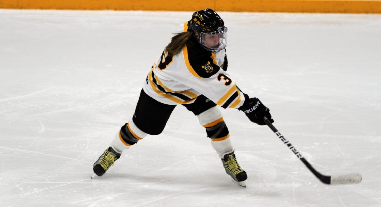 Emily Reibert finished with three points on the night (1 G, 2 A). - Photo courtesy of Dan Coquyt `14