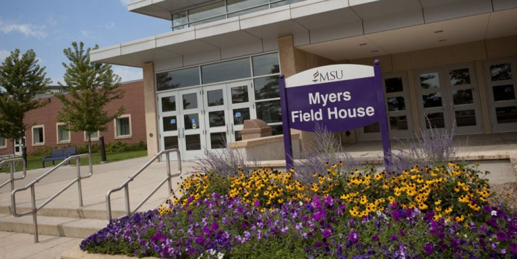 Myers Field House on the campus of Minnesota State University, Mankato.