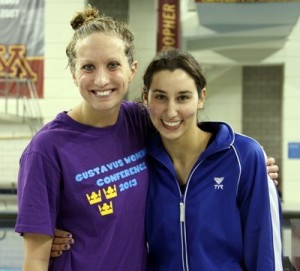 Gustavus' Alissa Tinklenberg and Macalester's Renee' Jordan won the top women's awards for 2013. (Photo by Sara Eisenhauer, St. Catherine Sports Information)