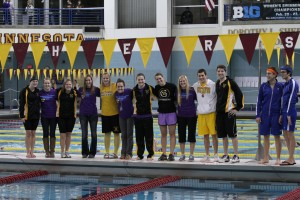 The 2013 Gustavus seniors honored on Saturday night. Photo courtesy of Photography by Kim Hagemeyer.