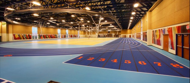 The Clement Track at the Leonard Center.