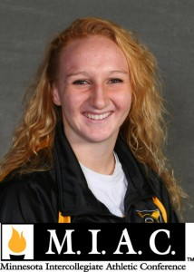 Ashley Lager named MIAC Women's Swimming Athlete of the Week.