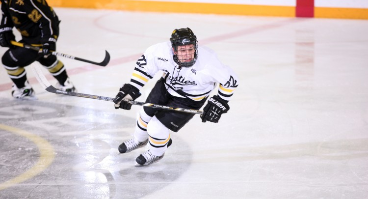 Andy Pearson scored early in the third period to put Gustavus on top 3-1.  The Gusties went on to defeat St. Olaf 4-1 and earn an MIAC Playoff spot.