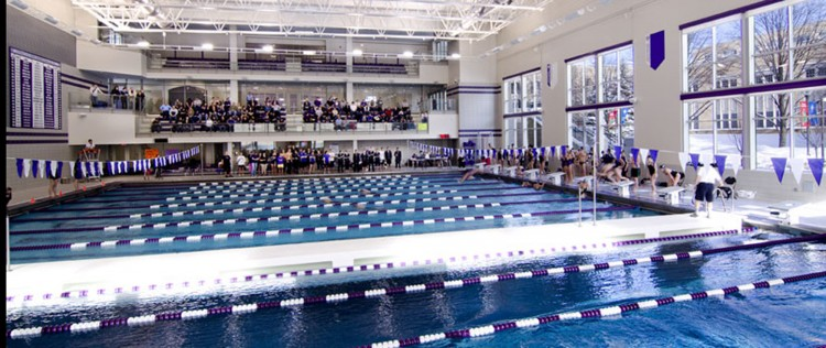 The Anderson Pool on the campus of St. Thomas, site of this weekend's MIAC Invite.
