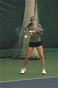First-year Sidney Dirks won both of her singles matches on Saturday.