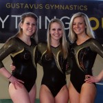 Bailey Zeinert, Jamie Ries, and Sam Opsahl will compete at the NCGA Championships this weekend. Photo courtesy of Tyler Grey.