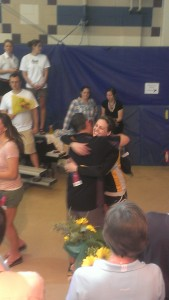 Sarah Hund was honored as a part of a senior recognition on Friday night of the NCAA Championships.