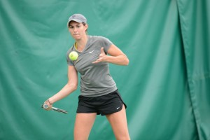 First-year Sidney Dirks highlighted singles play on Friday.