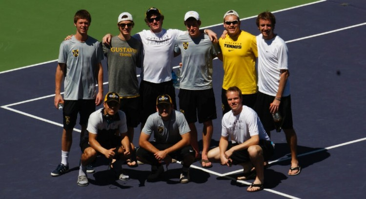 Gustavus players at Indian Wells, Calif.