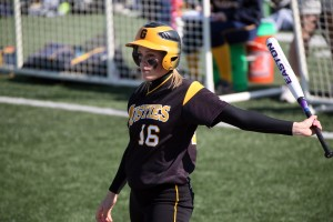 Kailey Morgan went a combined 3-for-7 with four RBI, two runs, two home runs and a double against Carleton.