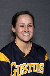 Carly Klass led Gustavus by going a combined 3-for-4 with a run against St. Thomas.