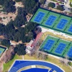 The Pauley Tennis Complex on the in Claremont, Calif.