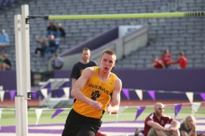 Brody Zeigler finished third in the high jump, earning All-MIAC honors.