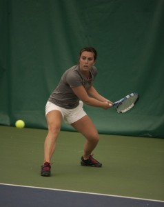 Heather Annis came up with the deciding point with her win at No. 2 singles.