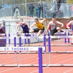 Matt Flotterud placed second in the 110-meter hurdles.