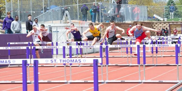 Matt Flotterud placed second in the 110-meter hurdles.
