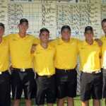 The 2012-13 Gustavus men's golf NCAA Tournament squad.
