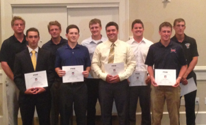 Alex Kolquist and Tyler McMorrow with the rest of the All-Central Region Team.