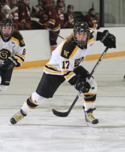 Lindsey Hjelm is the fourth women's hockey player to be bestowed Gustavus Athlete-of-the-Year distinction.