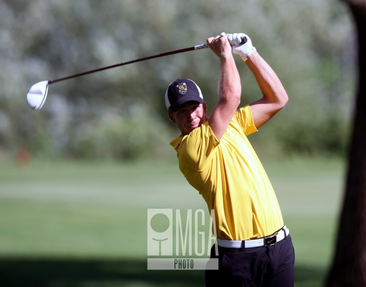 Tyler McMorrow on the 11th tee during US Amateur Sectional Qualifying at St. Cloud Country Club on Monday, July 22nd.  Photo by Mark Brettingen/Courtesy MGA