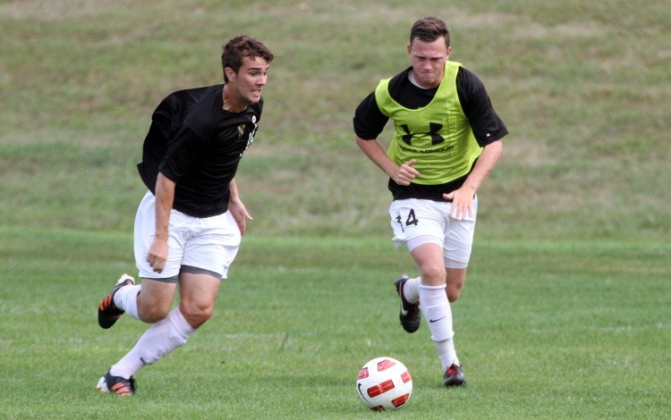 The Gustavus men's soccer team reported to campus on Friday, Aug. 16 and is currently in the midst of training camp.