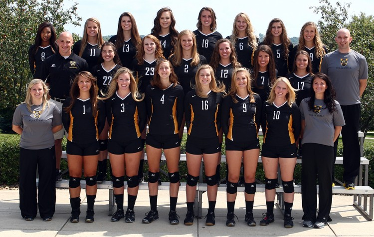 The Gustavus volleyball will travel to Winona, Minn. this weekend to open its 2013 season at the Ground Round Sugar Loaf Classic. Photo courtesy of Sport PiX.