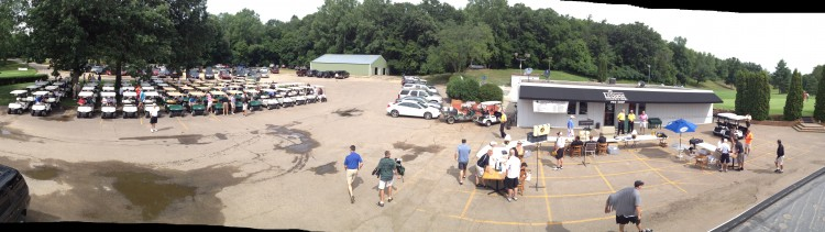 Over 150 golfers ascended on the Le Sueur Country Club for the 2013 Gustie Football Golf Tournament.