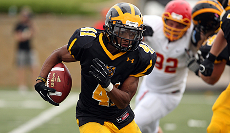 Senior Jeffrey Dubose ran for 75 yards on the day, surpassing the 2,000 yard rushing mark for his career.