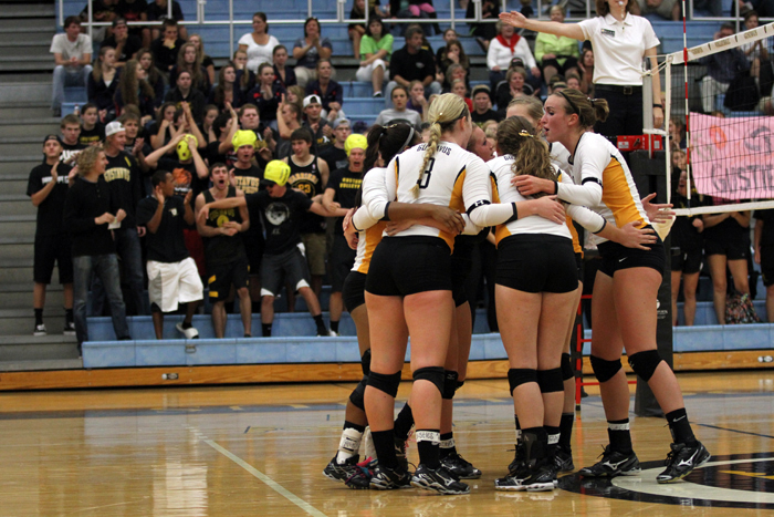 The Gustavus volleyball team suffered a 3-0 loss to Hamline University on Wednesday night at the Gus Young Court.