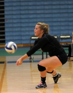 Paige Breneman had a season/match-high 28 digs in Wednesday's match against Hamline.
