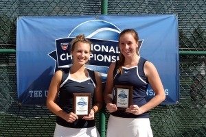 Bridget Doyle and Mikayla Becich of Carleton took home the USTA/ITA Midwest Regional Doubles Title a season ago.