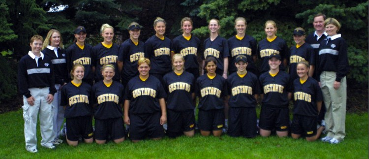 The 2003 MIAC Champion Gustavus softball team.