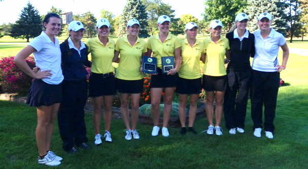 The Gustavus women's golf team won its first tournament of the year.  (Photo courtesy of Jill Nelson)