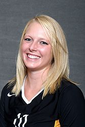 Kendra Weege had seven digs in Gustavus's 3-0 loss to St. Thomas on Saturday night.