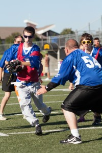 In unified flag football, athletes with and without a disability play on the same team.  Unified flag football in the newest sport offered by the Special Olympics in Minnesota.