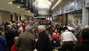 The Hall of Champions located upstairs in Lund Center was busy throughout the morning.