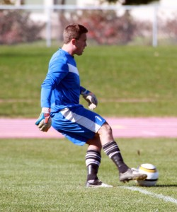 Goalkeeper Brett Ylonen made five saves en route to his third straight shutout victory.