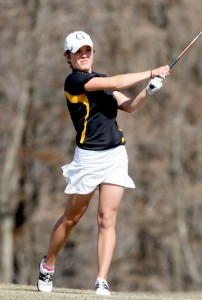 Liz Strom will look to repeat as an All-Conference performer this weekend (Photo courtesy of Sport Pix)