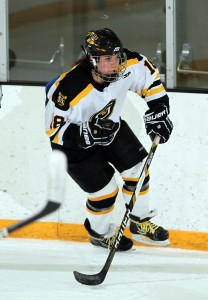 Carolyn Draayer has skated in 58 total games for the Gusties, scoring 47 points on 32 goals and 15 assists.