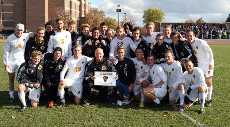 WIth a 2-0 win over Macalester on Saturday afternoon at the Gustie Soccer Field, Mike Middleton earned his 200th career victory as a head coach at the NCAA Division III level.