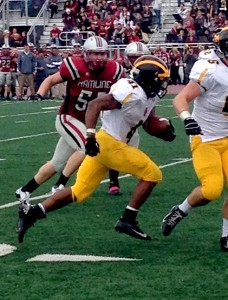Jeffrey Dubose scored five touchdowns on the day.