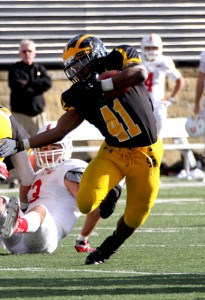 Jeffrey Dubose is now the all-time career rushing touchdowns leader at Gustavus.